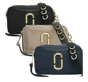 Details About Marc Jacobs The Softshot 21 Camera Bag Women Crossbody Leather Small Handbag Nwt
