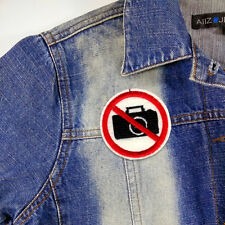 DO NOT DON'T NO PHOTO CAMERA TAKE A PICTURE Embroidered Iron On Patch T-SHIRT