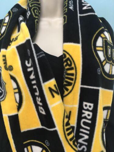 Nouveau Boston Bruins Polaire Infinity écharpe Fait Main Cousu Double Couches beau cadeau