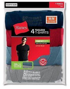 c59f0f8df4f1c 4-Pack Hanes Men s TAGLESS ComfortSoft Dyed Crewneck T-Shirt ...