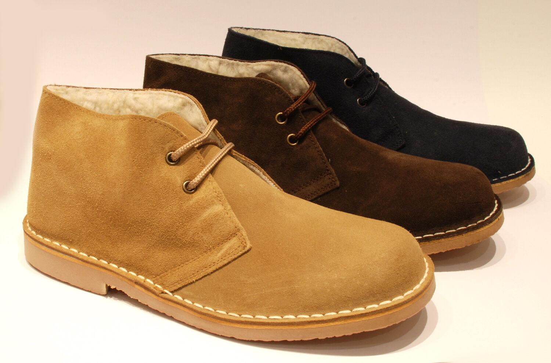 Mens Desert Stiefel Leather Made in Spain braun Blau US Größe 5 6 7 8 9 10 11 12 13