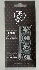 Iron Fist Lacy Days Black Nail Polish Strips, Art, Stickers, Skull Halloween