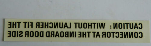 W2B Tornado Aircraft Caution Labels 16cm x 2.5cm