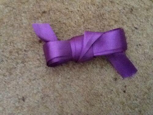 diferentes anchos de 10 Y 5 Metros Longitud Púrpura de doble cara cinta de raso