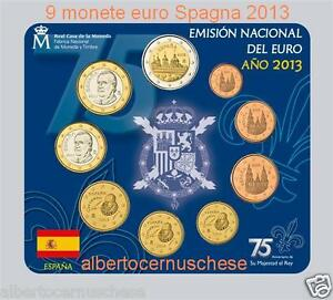 2013 Spagna 9 Monete 5,88 Euro Fdc Bu Espagne Spanien Espana Spain Escorial Dessins Attrayants;