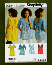 XXS-XXL   OOP Simplicity 8387//DO664   Knit /& Woven Tops w//Variations  Sizes