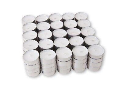 200 Tealights 4hr burn White Unscented Tea Lights Candles Resturant 25 50 100