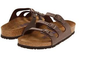 Birkenstock-FLORIDA-Ladies-Womens-Buckle-Birki-Buc-Summer-Beach-Sandals-Mocca-BN