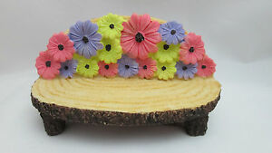 Miniature Dollhouse FAIRY GARDEN Figurine ~ Mini Resin Twig Look Bench w Grass