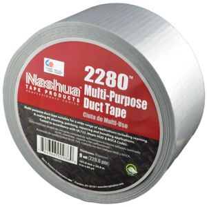 CASE OF 6 60yd x 1.89in x 9mil NASHUA 2280 Multi-Purpose Duct Tape Silver