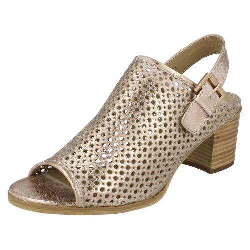 Femme savannah peep toe talon bloc bride arrière sandales F10624