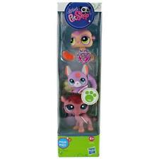 Littlest Pet Shop Tube MEERCAT CHINCHILLA CAMEL lot #2115 2116 2117 Retired NIB!