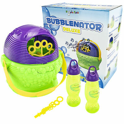 Veranstaltungs- & Dj-equipment Erfinderisch Bubblenator Deluxe Bubble Blower Maschine Kinder Spaß Toy Auto W/solution Neu