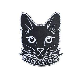 03b7ce944 Black Cat Club Iron On Patch Cute Feline Crazy Cat Lady Gift ...
