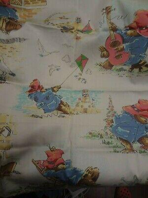 Vintage PADDINGTON BEAR fabric Remnant 66cm x 60cm