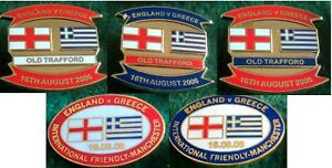 England-v-Greece-Friendly-International-16-August-2006-Manchester-Pin-Badge