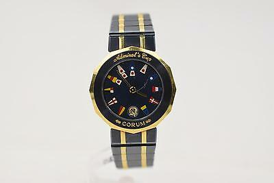 Authentic  Corum  Watch Admiral's Cup Flags Navy X Gold Women's QZ 128181