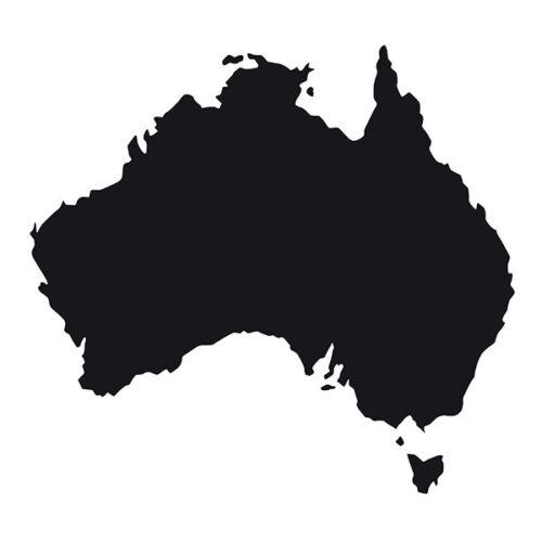 Australia shape Car Window Bumper Wall Fridge Vinyl Decal Souvenir Sticker Black