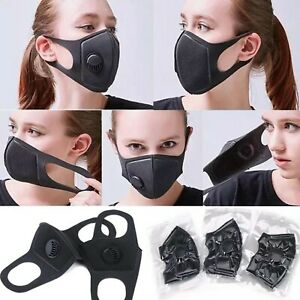 Face Dust Mask Reusable Washable Anti Pollution Smog Allergens And Bacteria Uk Ebay