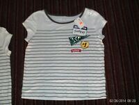 Justice -- Girls Size 10 Bleach White Varsity Top---nwt