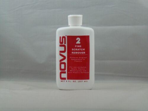 NOVUS PLASTIC FINE SCRATCH REMOVER 2 POLISH CLEANER SEALER 8OZ PROFESSIONAL