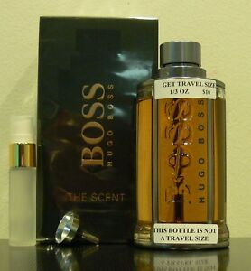 76a27ed1732 TRAVEL SIZE HUGO BOSS THE SCENT EAU DE TOILETTE 0.33 FL. OZ. 10 ML ...