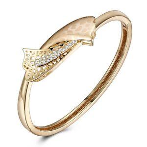 Gold-Silver-Plated-Crystal-Pave-Bar-Slider-Bracelet-Adjustable-Drawstring-Bangle