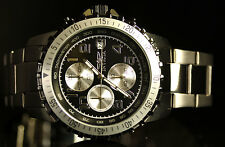 Invicta Mens Specialty Pilot Black Dial Chronograph Stainless Steel Watch