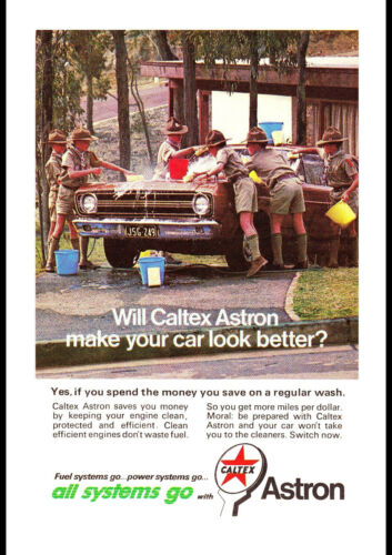 "1967 CALTEX PETROL FORD XR FALCON GT AD A1 CANVAS PRINT POSTER 33.1""x23.4"""