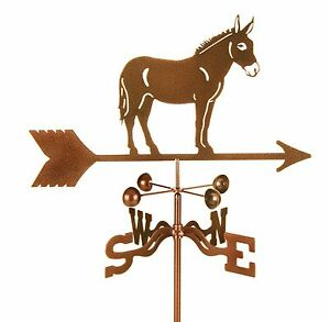 Mule-Weathervane-Donkey-Horse-Burro-Vane-Complete-with-Choice-of-Mount