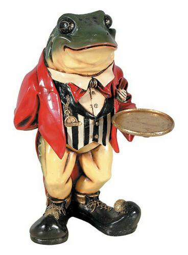 Frog Butler Statue Alice and Wonderland Decor Restaurant Bar Display Prop