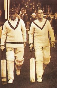 Nostalgia-Postcard-Hobbs-and-Sutcliffe-at-Scarborough-1931-Reproduction-Card-NS1