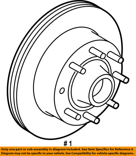 Ford Oem 08 13 E 350 Super Duty Front Brake Rotor Bc2z1102a For Sale