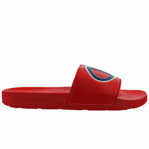 6c2b1c69e6 Image is loading Champion-Men-039-s-IPO-Slide-Sandals-Red-