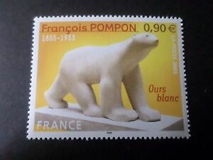 FRANCE-2005-timbre-3806-ART-POMPON-OURS-BLANC-neuf-VF-MNH-STAMP
