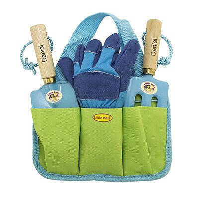 Personalised Childrens Boys Blue Garden Gardening Tools Kit Set Birthday