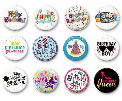 Number Badges button pins 0 to 9 number pin age badge pick which number you want
