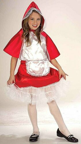 Red Riding Hood Girls Fancy Dress Fairytale Book Day Week Costume Outfit Age 4-8