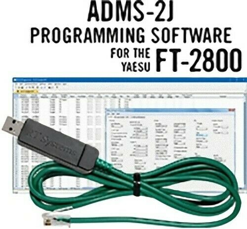 RT Systems ADMS-2J-USB Programming Software and USB-29F Cable for Yaesu FT-2800. Buy it now for 48.73