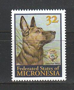 ULB-137-Mikronesien-Mi-Nr-509-Schaeferhund-2-Scans