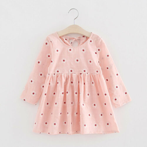 Toddler Baby Kids Girl Long Sleeve Princess  Dress Wedding Party Gown Dresses US