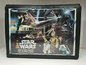 Vintage Star Wars Mini-Action Figures Collector's Case w/ 12 Vintage Figures