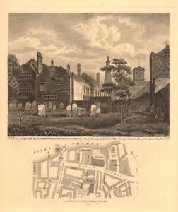 Details about BOROUGH  Queen Elizabeth's Free Grammar School, Tooley  Street  London 1834 map