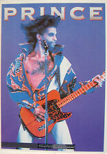 PRINCE POSTCARD 1990 Playing Guitar open shirt OLIVER Books UK Official OB37