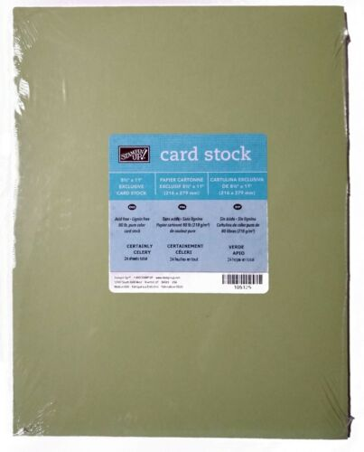 Stampin/' Up!80lb 8 1//2 x 11 CERTAINLY CELERY Exclusive Cardstock 24pack #105125