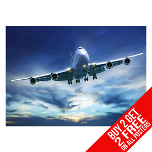 BOEING 747 AEROPLANE POSTER WALL ART PRINT A4 A3 SIZE BUY 2 GET ANY 2 FREE