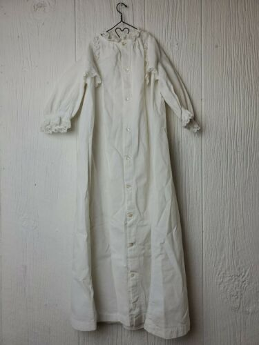 Vintage Girls Infant Victorian White Long Dress Ni