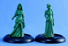 Victorian Ladies Chronoscope Reaper Miniatures Steampunk RPG Cloak Robe Dress