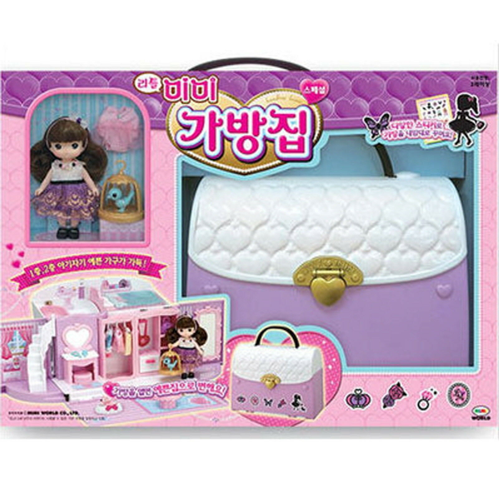 Little MIMI Bag House Barbie Barbie Barbie Doll Role Play Korean Character Fairy toy Girl gift bbd