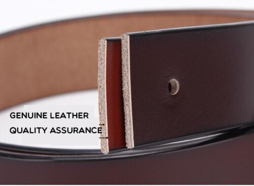 """Hot selling Top quality Designer Belts Mens Belt 100/% Leather Belt Waist 30/""""-46/"""""""